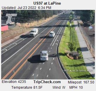 Highway 97 at LaPine Webcam - La Pine, OR