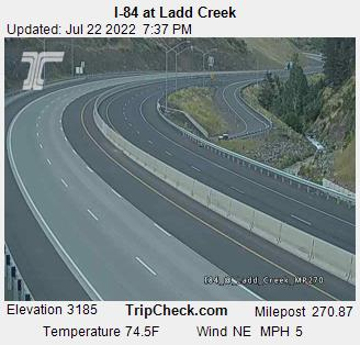 RoadCam - I-84 at Ladd Creek