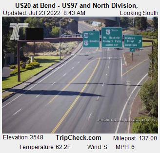 RoadCam - US20 at Bend - US97 and North Division