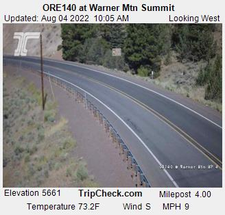 RoadCam - ORE140 at Warner Mtn Summit