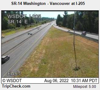 RoadCam - SR-14 Washington - Vancouver at I-205