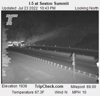 RoadCam - I-5 at Sexton Summit N