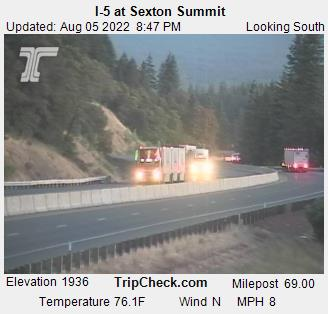 RoadCam - I-5 at Sexton Summit S