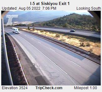 RoadCam - I-5 at Siskiyou Exit 1