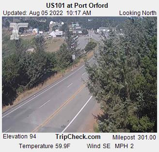 RoadCam - US101 at Port Orford