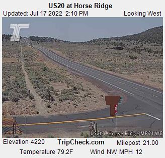 RoadCam - US20 at Horse Ridge