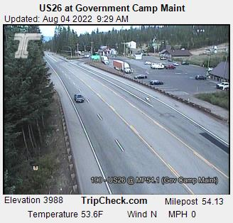 RoadCam - US26 at Government Camp