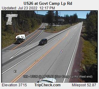 RoadCam - US26 EB at Govt Camp Lp Rd