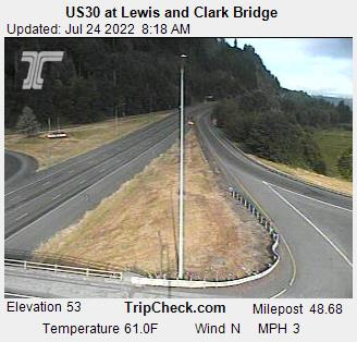 RoadCam - US30 at Lewis and Clark Bridge