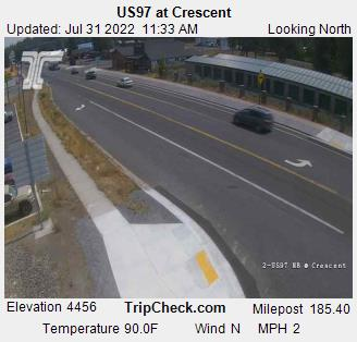 RoadCam - US97 at Crescent