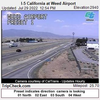RoadCam - I-5 California at Weed Airport