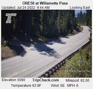 Hwy 58 Williamette Pass