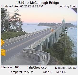 RoadCam - US101 at McCullough Bridge