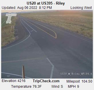 RoadCam - US20 at US395 at Riley