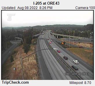 RoadCam - I-205 at Ore 43