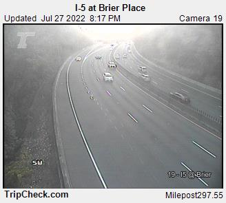 RoadCam - I-5 at Brier Place