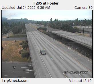 RoadCam - I-205 at Foster