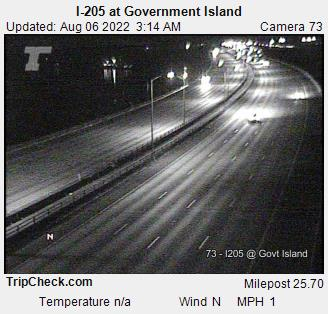 I-205 at Government Island