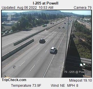 RoadCam - I-205 at Powell