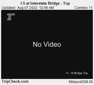 RoadCam - I-5 at Interstate Bridge, top