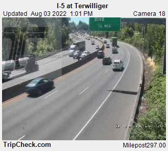 RoadCam - I-5 at Terwilliger
